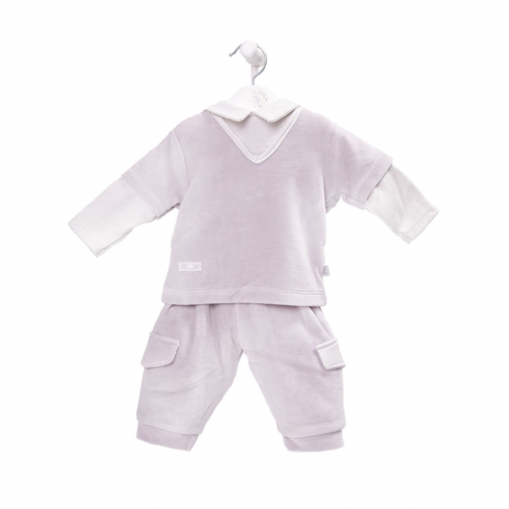 "AV2420 ""Owl on Moon"" Boys Velour  Top & Trouser"